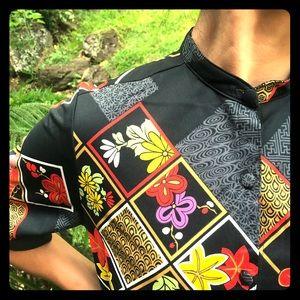Vintage Japanese inspired midi dress
